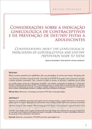 Considerações sobre indicação de contraceptivos e prevenção a adolescentes