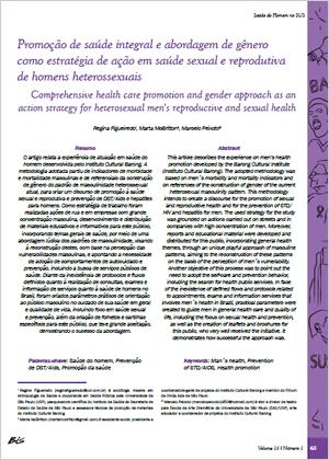 Promoção de saúde integral e abordagem de gênero como estratégia de ação em saúde sexual e reprodutiva de homens heterossexuais